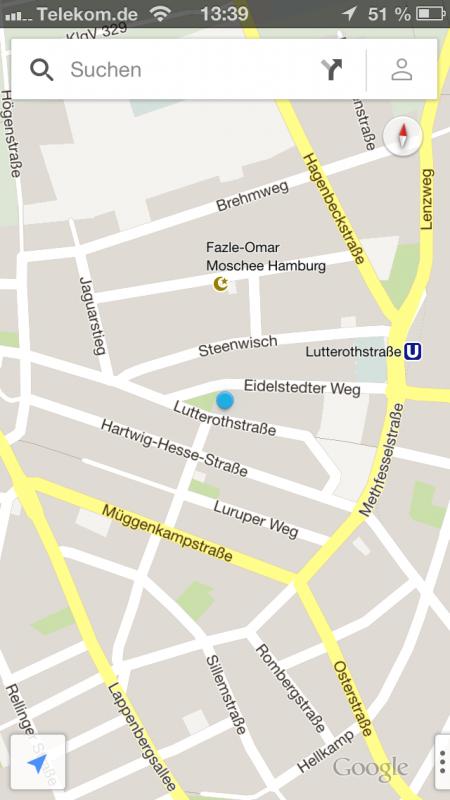 Google Maps unter iOS