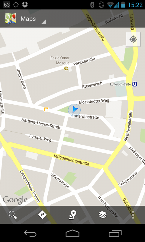 Google Maps unter Android