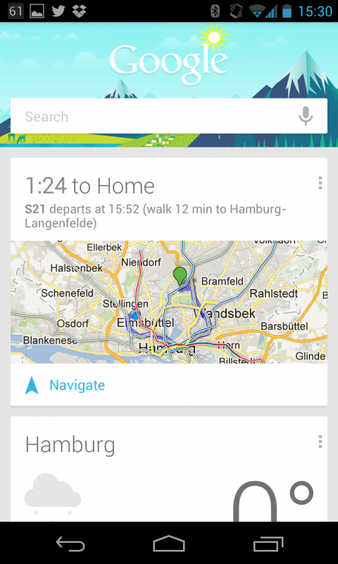 Google Now. IT'S FRESH.